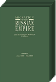 Migration from the Russian Empire. 6 Volume Set