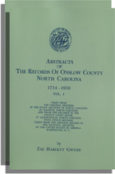 Abstracts of the Records of Onslow County, North Carolina, 1734-1850. Two Volumes