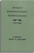 Marriages of Johnston County, North Carolina, 1762-1868