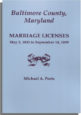Baltimore County, Maryland, Marriage Licenses, May 2, 1832 to September 14, 1839